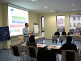 Projekto vadovas dr. D. Daunys pristato partnerių veiklas